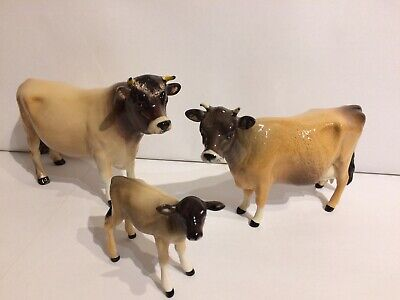BESWICK- Jersey Cattle Family - Bull, Cow & Calf • 140£
