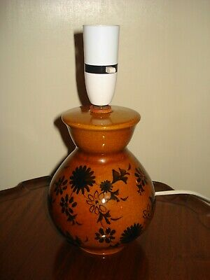 Vintage RYE POTTERY Ceramic Lamp Base In Working Order  Mid Century Retro • 24.95£