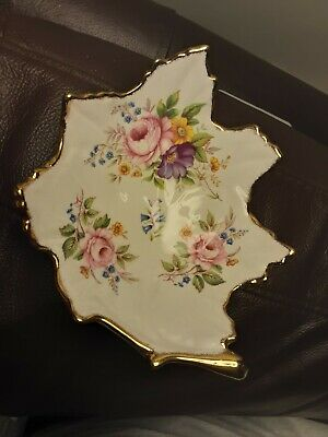 Vintage Fenton Fine Bone China Leaf Shaped Trinket Dish Fenton China Company • 4.99£
