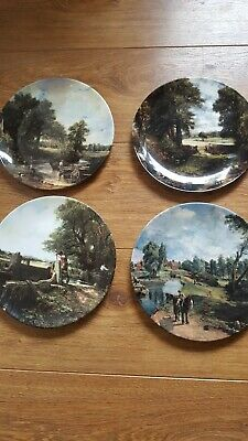Set 4 Royal Doulton Limited Edition Plates Including Haywain Excellent With Cert • 8.99£