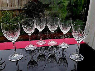 6 Exceptional Port Dessert Claret Wine Glasses Vintage Desireable Chic • 14.75£