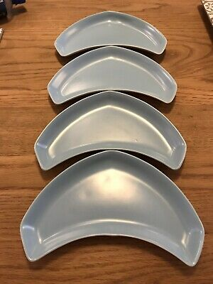 Poole Pottery Crescent Side Plates X 4 • 18£
