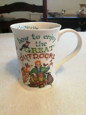 Lovely Dunoon How To Enjoy The Great Outdoors Mug Designed By Cherry Denman • 13£