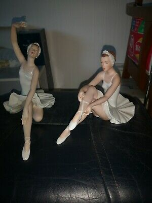 Royal Dux Bohemian Ballerinas In Different Poses, Fantastic Condition • 120£