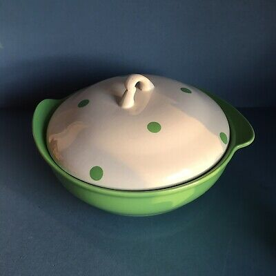 Lord Nelson Ware Lime Green Polka Dot Tureen • 25£