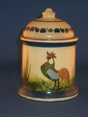 LONGPARK TORQUAY Pottery Tobacco Jar - Cockerel - You're Welcome To Your Fill • 19.95£