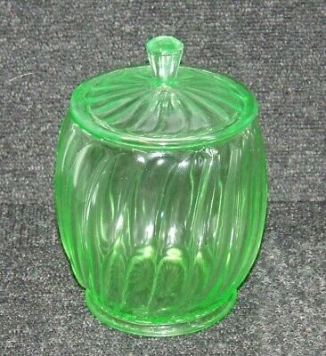 Vintage URANIUM GLASS Cookie Jar Bagley? • 39.99£
