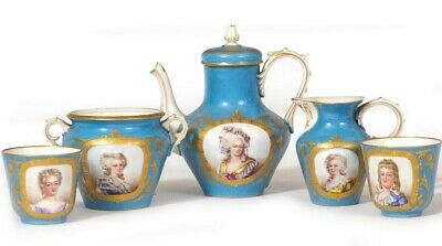 SEVRES Tea Set Service RARE French • 2,500£