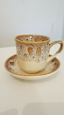Fosters Pottery Cup And Saucer Blonde Honeycomb • 2.50£