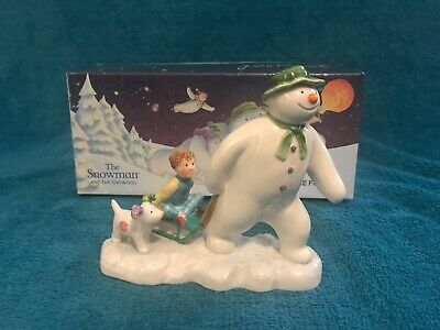 Beswick The Snowman Billy And The Snowdog Figure Boxed. • 22.95£