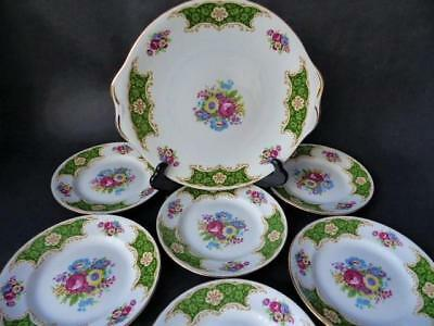 1950's Cake Platter & Six Side Plates - Royal Standard Fine Bone China • 39.99£
