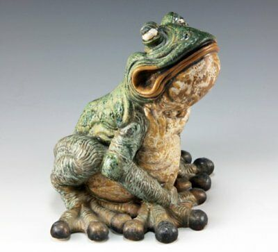 Andrew Hull Burslem Pottery Stoneware, Terrence The Grotesque Wide Mouthed Toad • 295£