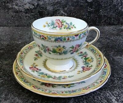 Foley 'ming Rose' Trio Tea Cup & Saucer & Side Plate E. Brain & Co  • 20£