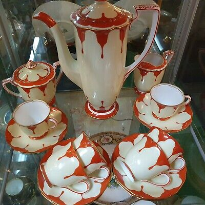 Striking 15 Piece Noritake Coffee Set • 175£