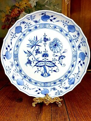 Meissen German 28cm Large Blue Onion Dinner Plate 1st Grade, Hand Decorated • 26.45£