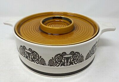 Rare Vintage Arklow Ireland Pottery 'Tree Of Life' Serving Casserole Pot Cooking • 49.99£