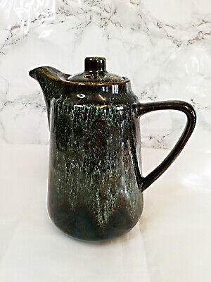 Vintage Fosters Pottery Coffee Pot Honeycomb Green  • 9.99£