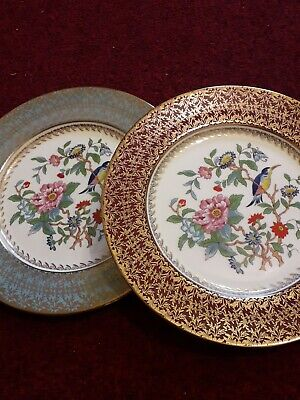 Aynsley PEMBROKE  10.5  PLATE - RED OR BLUE With GOLD BORDER DECORATIVE  PLATE • 23.50£