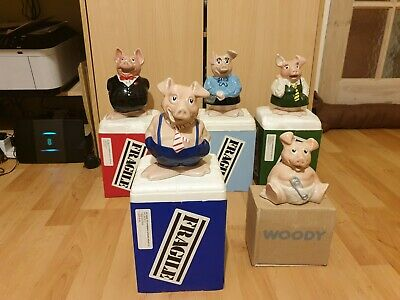 Wade Natwest Pigs In Original Boxes - Full Family Set - Highly Collectible • 197£