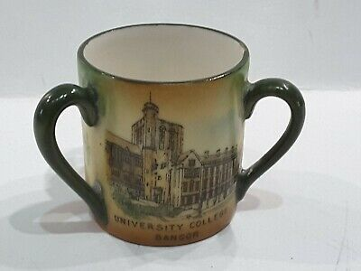 Bangor University College Gemma Pottery 3 Handled Cup Tyg Loving Cup • 15£