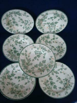 Bhs Country Vine 9  Lipped Soup Bowls X 7 • 28£