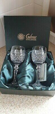2 Galway Crystal Boxed Wine Glasses Rolls Royce Spirit Of Excellence Collectable • 29.99£