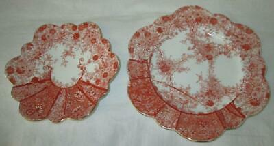 Charles Wileman Jungle Print Daisy Shape Bread Plate & Saucer #6027 • 19.99£