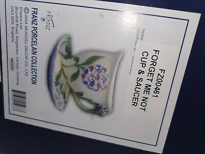 Franz Porcelain FORGET ME NOT CUP & SAUCER Boxed • 29.99£