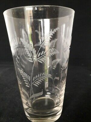 Victorian Edwardian Etched Pint Glass (11c) • 5.99£