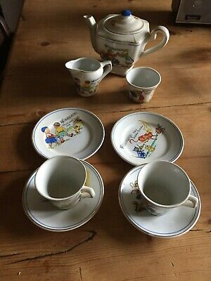 Vintage Child's Nursery Ryhme 9 Piece Tea Set • 54.99£