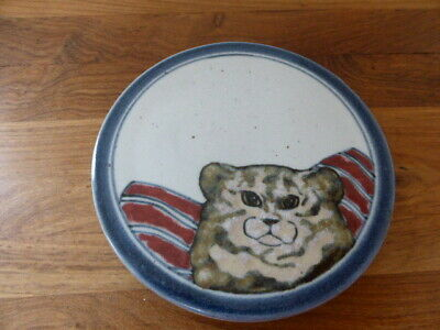 Rare Vintage Highland Stoneware Pottery Trivet Or Pot Stand, 'Cat' Pattern, Vgc • 17.77£