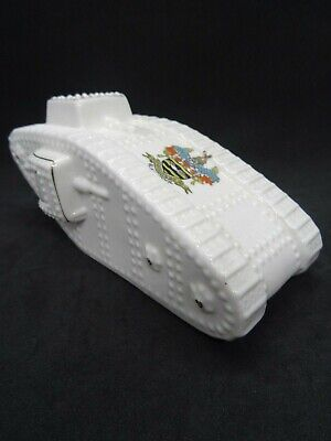 WW1 Crested China Tank Made By Swan Ware, Crested With Blackpool • 36£