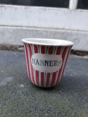 Vintage 1950 Rye Studio Pottery Sussex Hand Painted Nanners Egg Cup • 19.95£