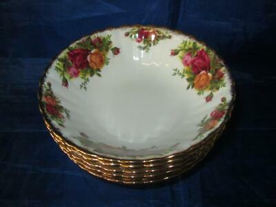 Set Of Six (6) Royal Albert Old Country Roses 6 1/4  Cereal/Soup Bowls • 32.99£
