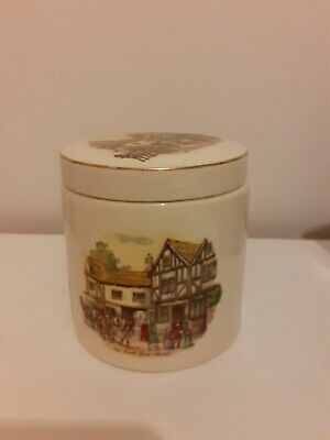 Sandland Ware Lidded Marmalade Pot Pictures Off Old Coach House Bristol • 4.28£
