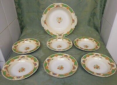 Grindley The Selkirk Art Deco Desert Dish And  6 Bowls  • 12.99£