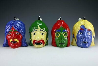 Lorna Bailey FULL SET LARGEST SIZE ANDY WARHOL STYLED BEATLES CHARACTER TEAPOTS • 220£