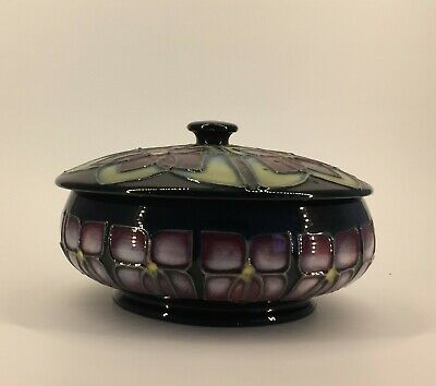Sally Tuffin Violet  Design  Moorcroft Lidded Bowl Early 1990s • 75£