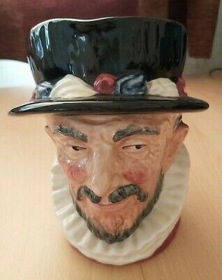 Large Vintage Royal Doulton Toby Jug Of A London Beefeater • 5£