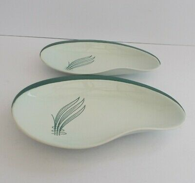 Carlton Ware  Windswept Green  Pair Of Shallow Dishes. • 9.99£