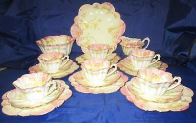 21 Piece Charles Wileman Yellow/Pink Kensington Empire Shape Tea Set • 695£