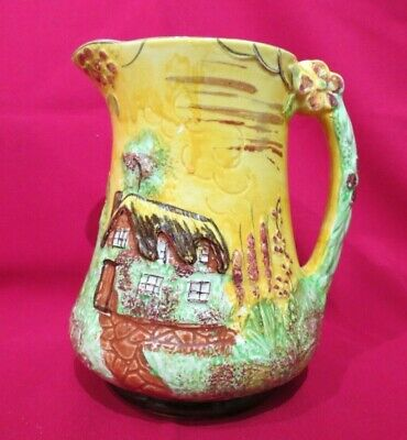Price Bros Cottage  Ware Jug / Pitcher - Hand Painted - Thatched Cottage • 18£