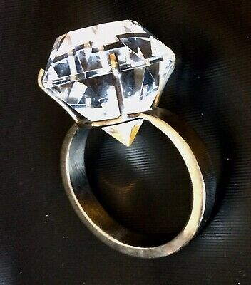 Large Diamond Engagment Ring Design Glass Paperweight • 4.99£