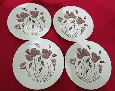 J & G Meakin MAIDSTONE WHISPERING 4 X 9  Salad Plates 1970s  • 8.50£