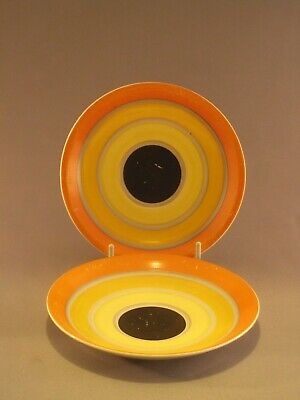 Gray's Pottery Hand Painted Art Deco  Saucers • 3.99£