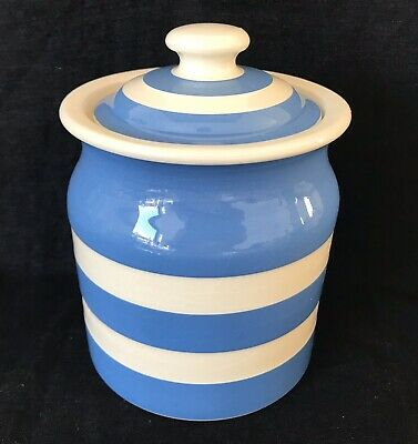 T G Green Vintage Cornish Ware Blue & White Large Storage Jar • 17.50£
