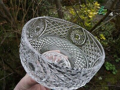 Tyrone Crystal Large Footed Cut Glass Bowl STUNNING Piece • 58£