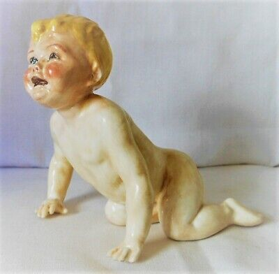 Rare Royal Worcester Baby Figure, Child Crawling  RW3381, F G Doughty • 350£