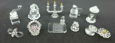 10 X Mayfair Miniature Crystal Glass Objects - 'Pure Nostalgia' (job Lot) • 12£