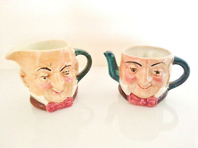 TWO Collectable Miniature Toby/Character Jugs By ARTONE • 9£